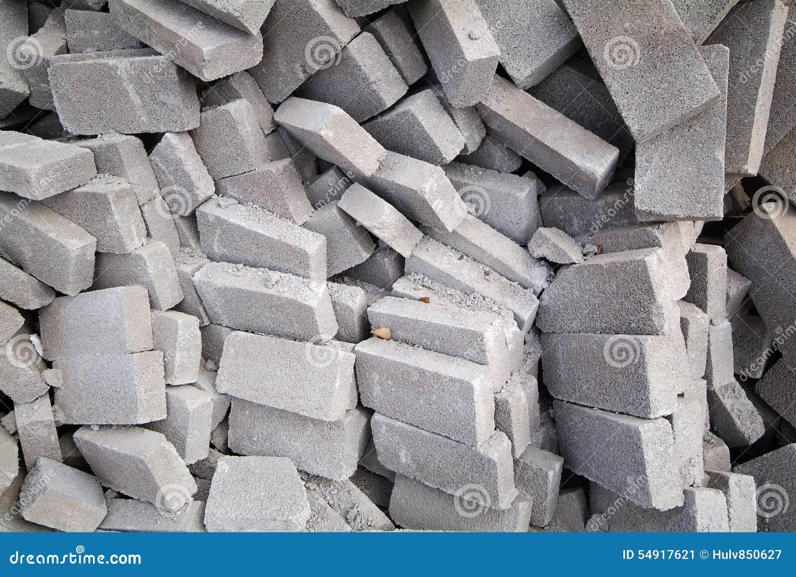 Calcium Silicate Brick Chipped : Big pile of bricks stock photo image