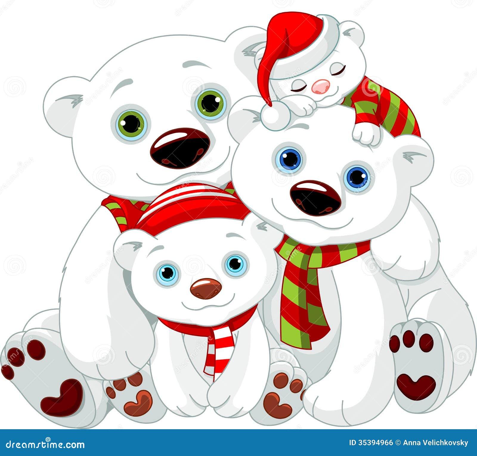 big polar bear family at christmas stock vector Teddy Grahams Vermont Teddy Bear