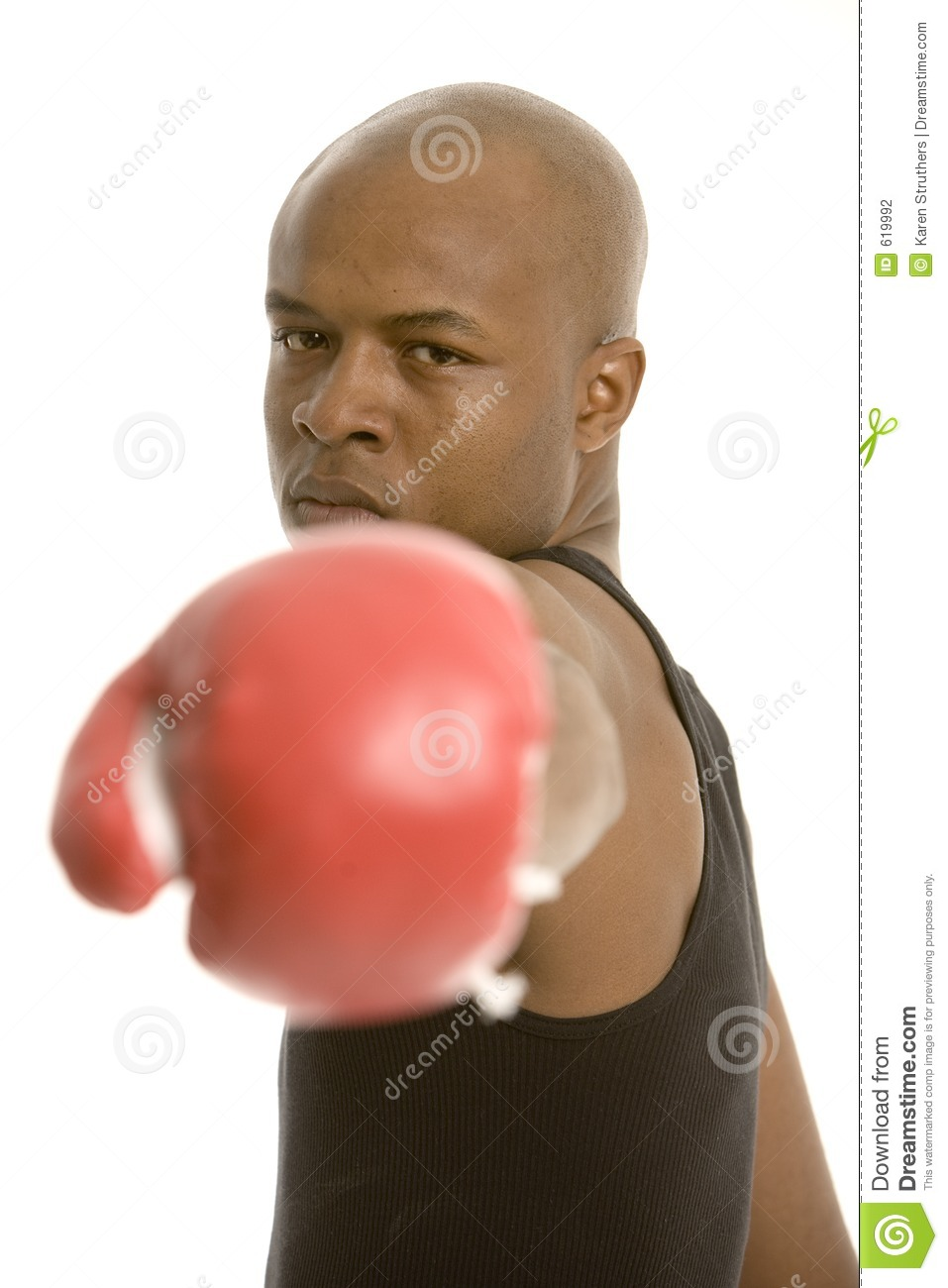 Big punch, glove not in focus