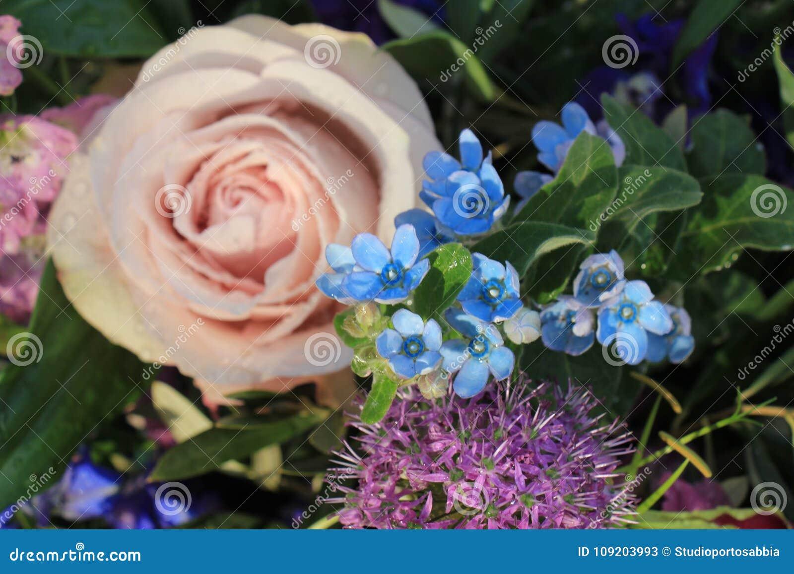 Big Purple Roses Stock Image Image Of Pastel Arrangement 109203993