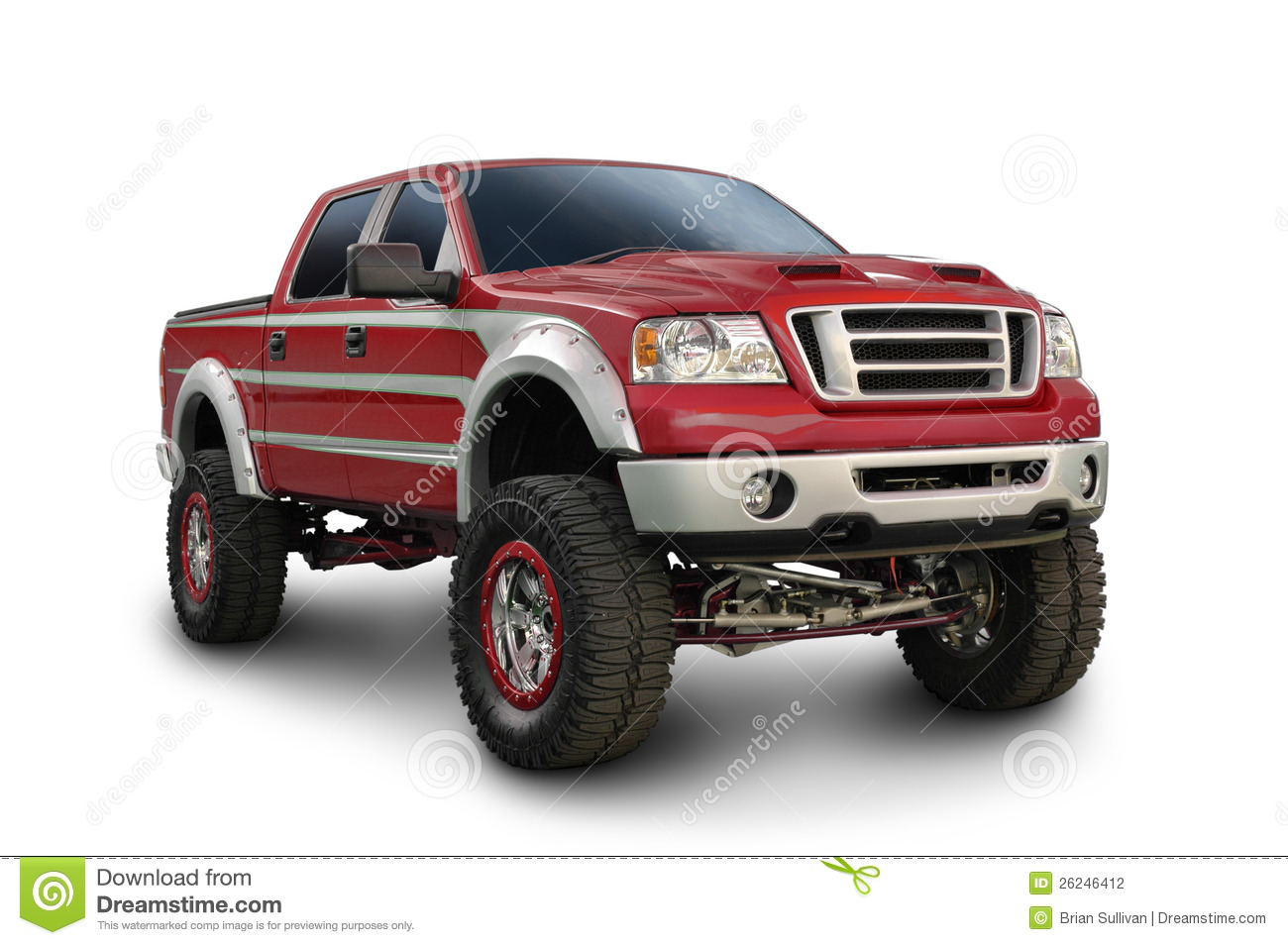 big red ford truck stock photo image of tire headlight 26246412. Black Bedroom Furniture Sets. Home Design Ideas