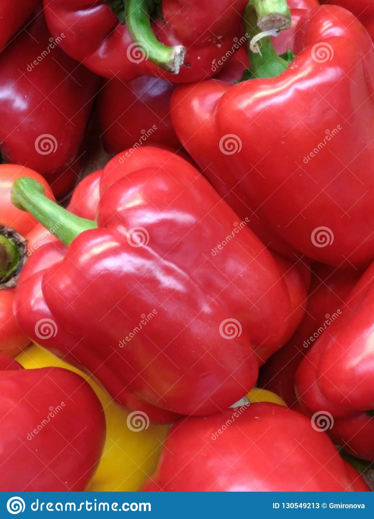 Big red peppers