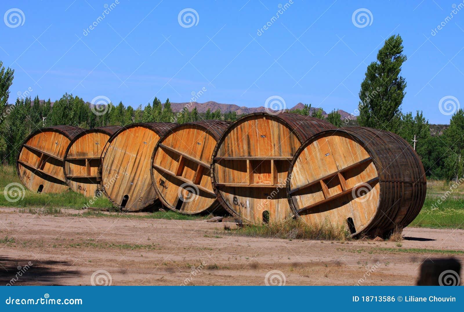 Big Red Wine Barrels Stock Photo Image Of Wine Alcohol 18713586
