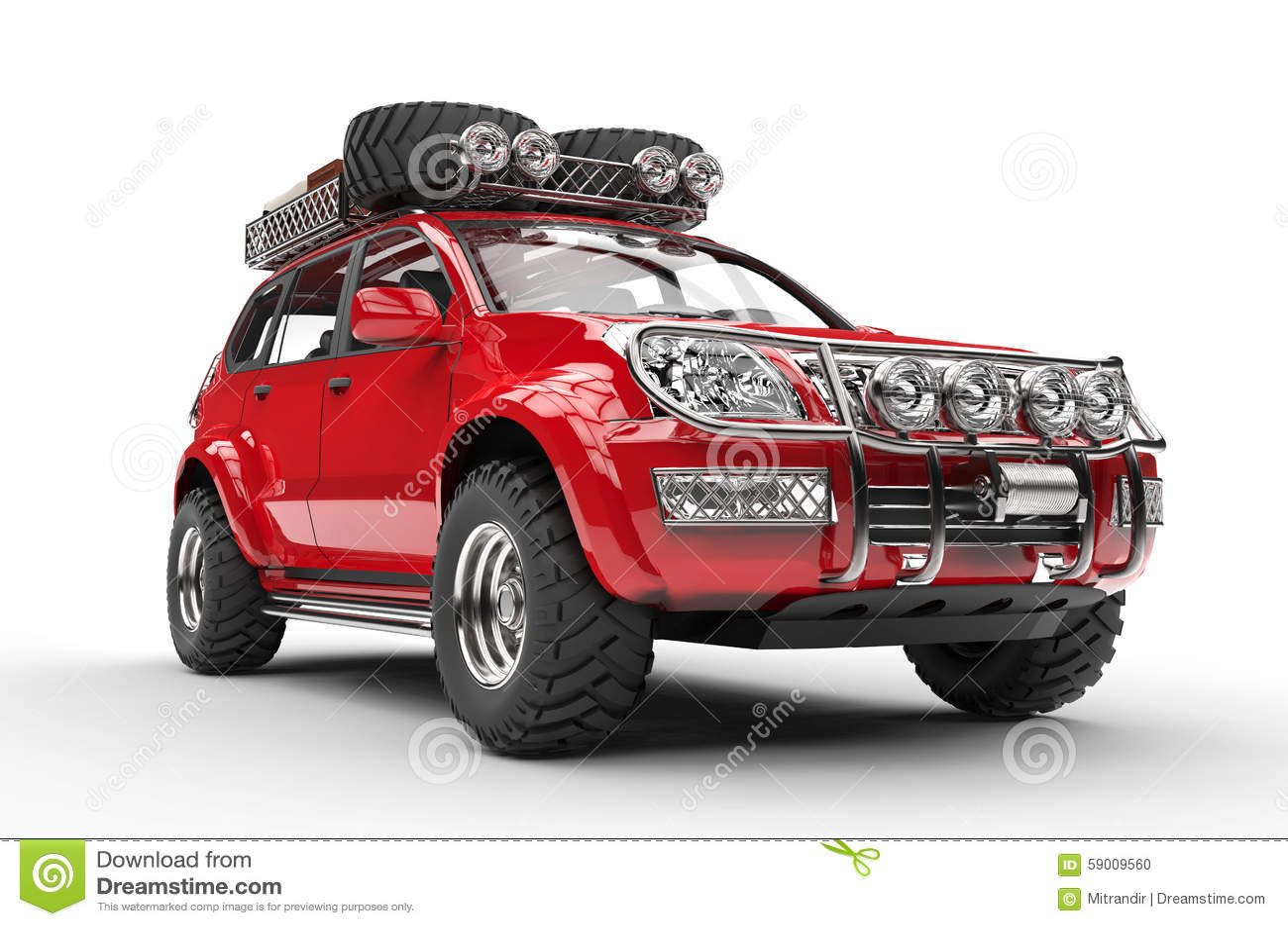Big Red Suv Stock Photo Image