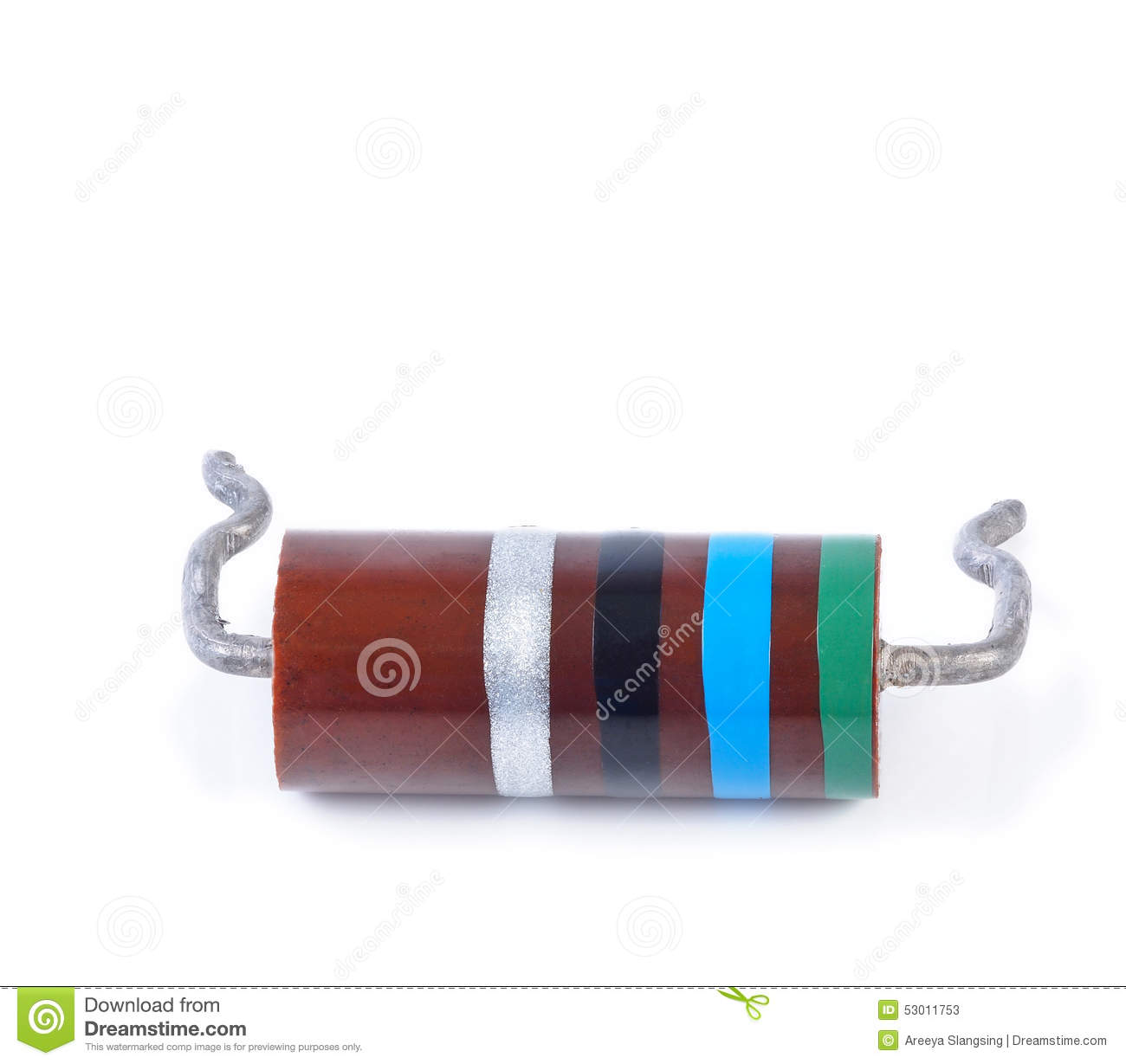 Big Resistor With Color Code Isolated Stock Image Of Diagram Codes
