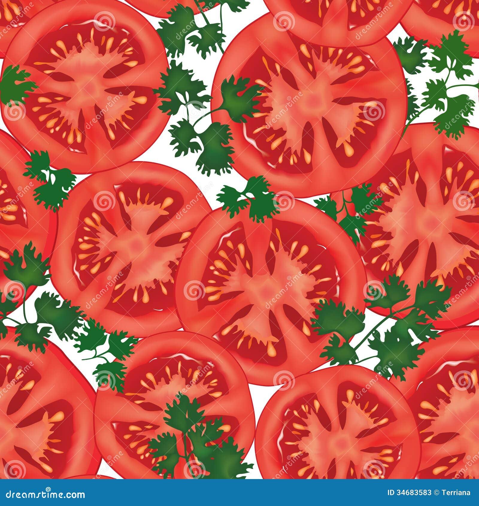 Big ripe red fresh tomato seamless background