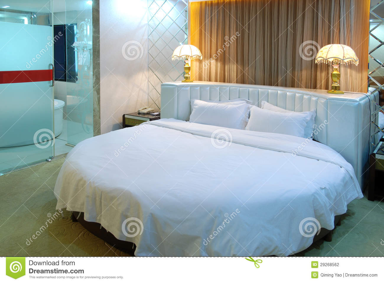 Big Round Bed Stock Photography Image 29268562