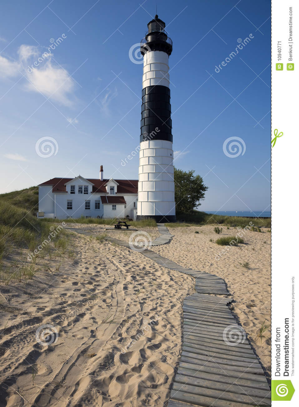 big sable point lighthouse stock image image of station 10940771. Black Bedroom Furniture Sets. Home Design Ideas