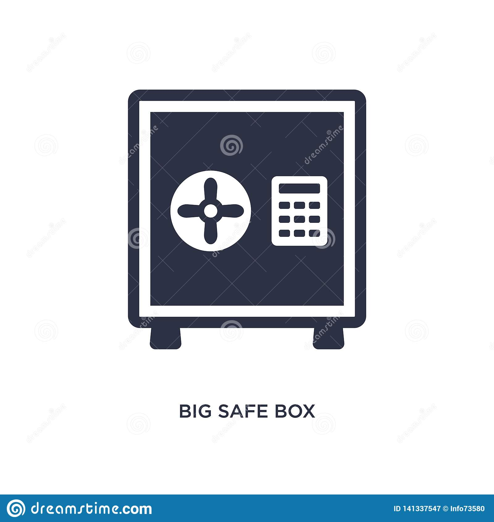 big safe box icon on white background. Simple element illustration from airport terminal concept
