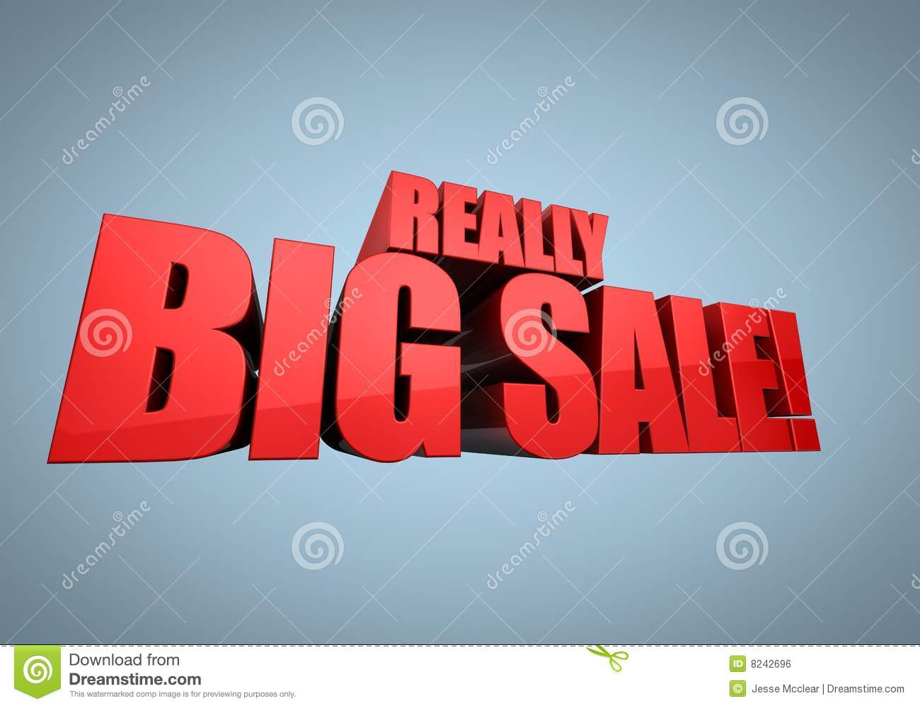3D illustrated background with a banner for sale - 'Really Big Sale ...: www.dreamstime.com/royalty-free-stock-image-big-sale-banner...