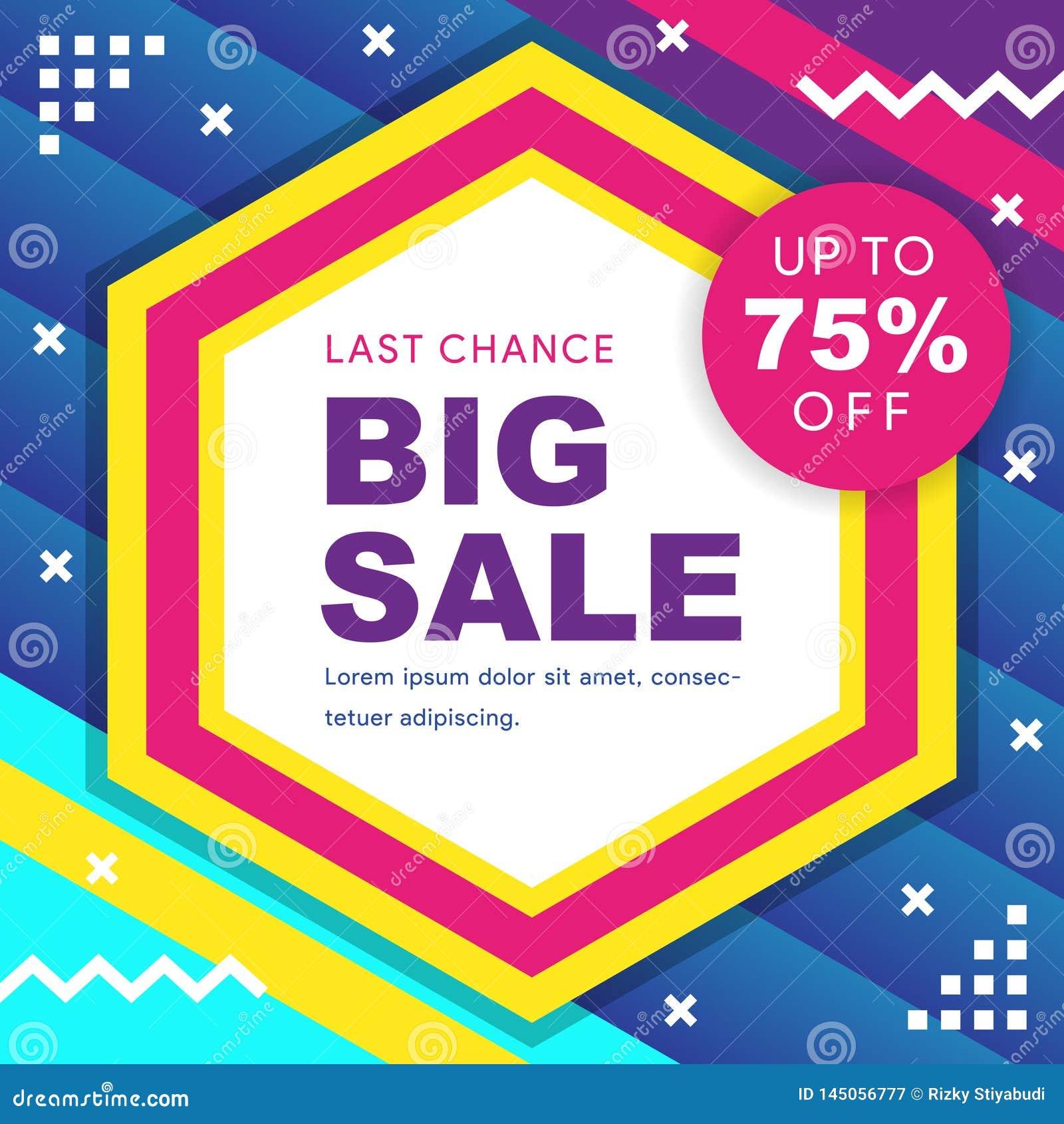 Big sale banner. Vector illustration.