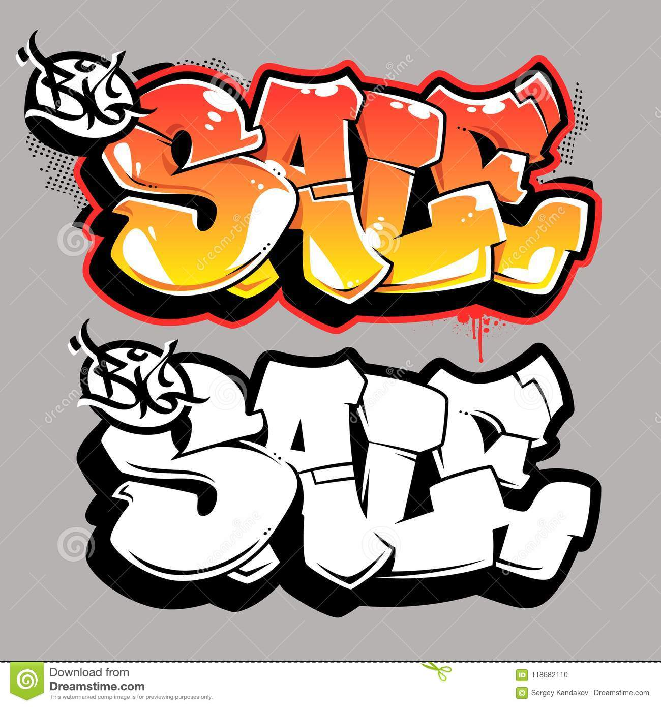 Download Big Sale Graffiti Vector Lettering Stock
