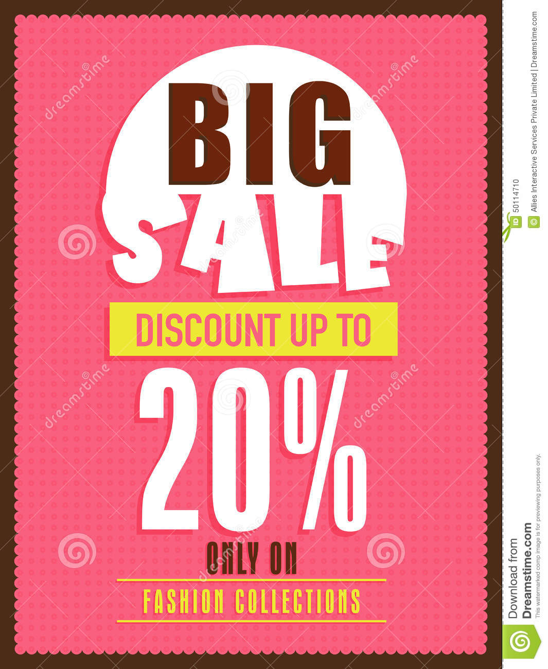 Big sale flyer banner or poster stock photo image for Cheap prints and posters
