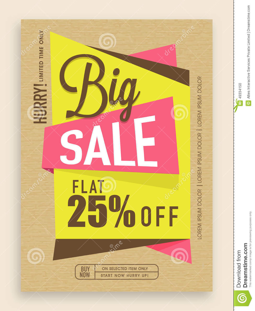 Big Sale Flyer, Template Or Banner Design. Stock Photo - Image ...