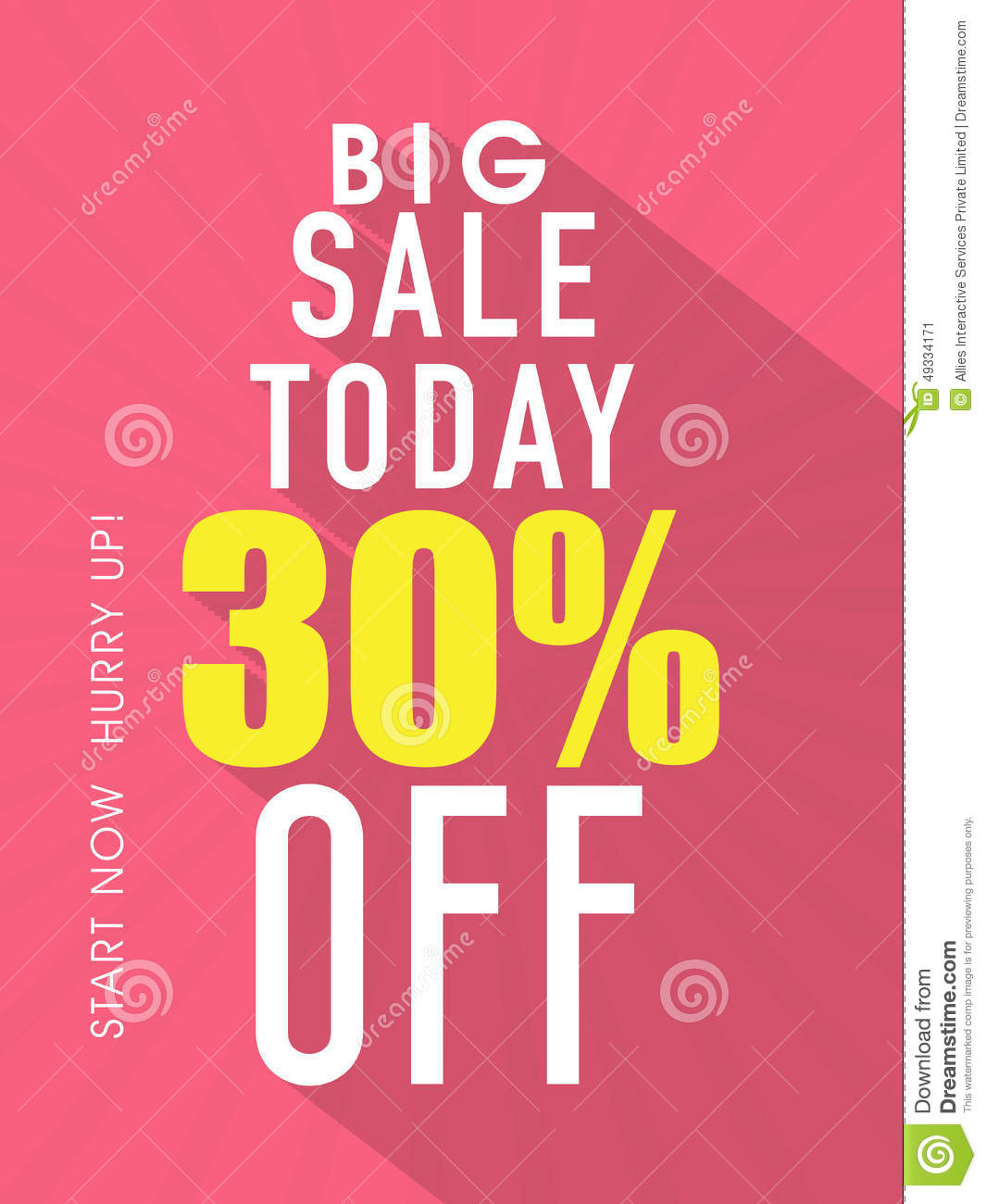 Big Sale Flyer, Template Or Banner. Stock Photo - Image: 49334171