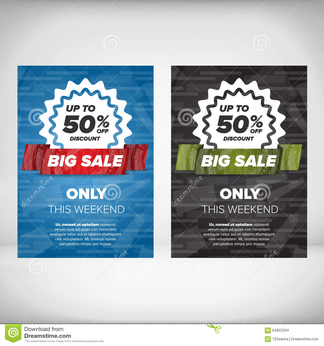 big flyer template stock vector image 64822234 big flyer template