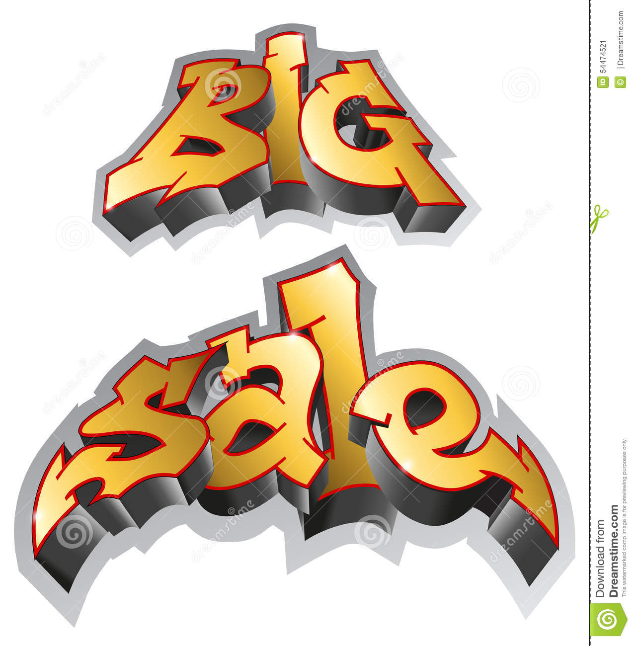 Graffiti art sale - Art Big Graffiti Illustration Inscription Sale