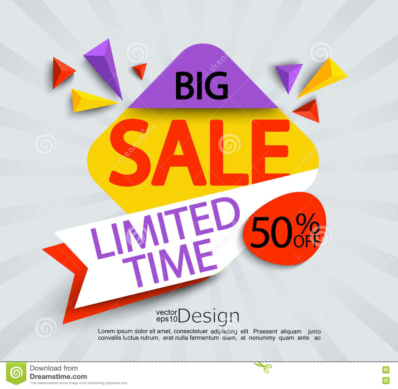 100+ Nice Origami Banner For Sales Discounts Vector Free ... - photo#25