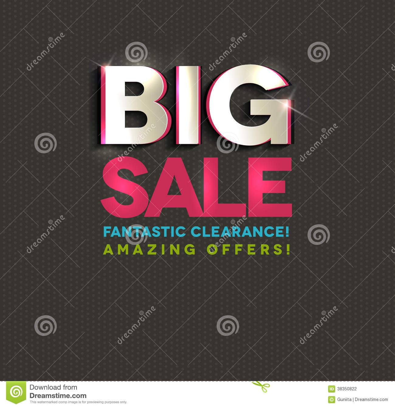Big Sale Poster, Cut Out Letters Stock Vector - Illustration of best