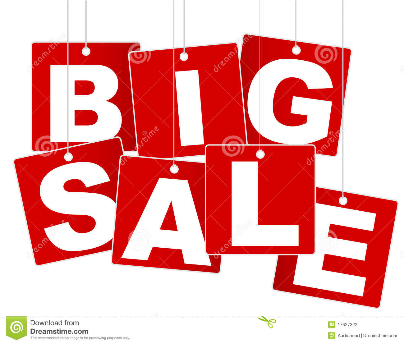 Sale: Big Sale Sign Stock Photography