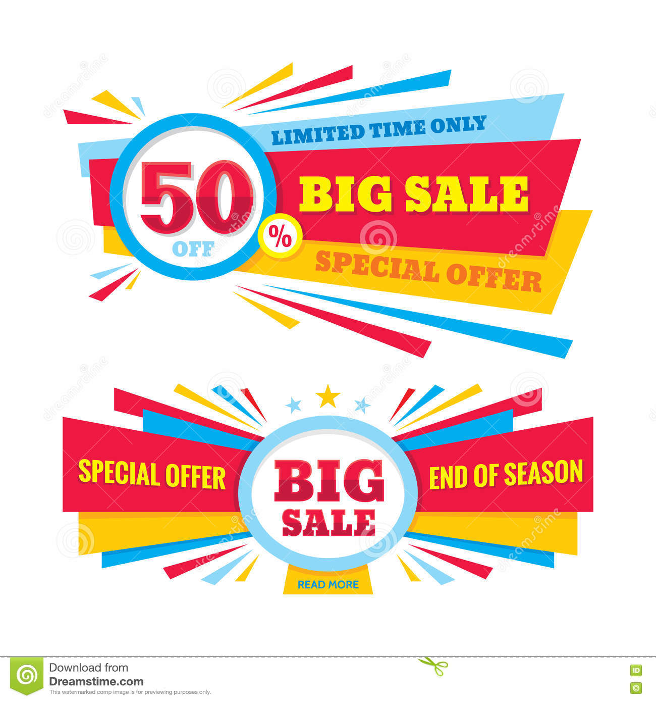 big sale vector banner discount 50 off special offer creative design layout limited
