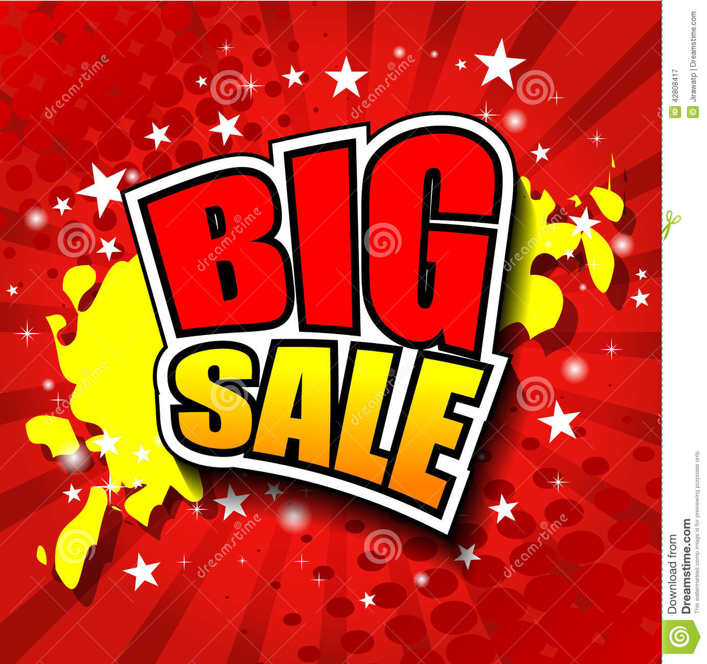 Big sale vector illustrator eps 10 stock vector image for Large prints for sale