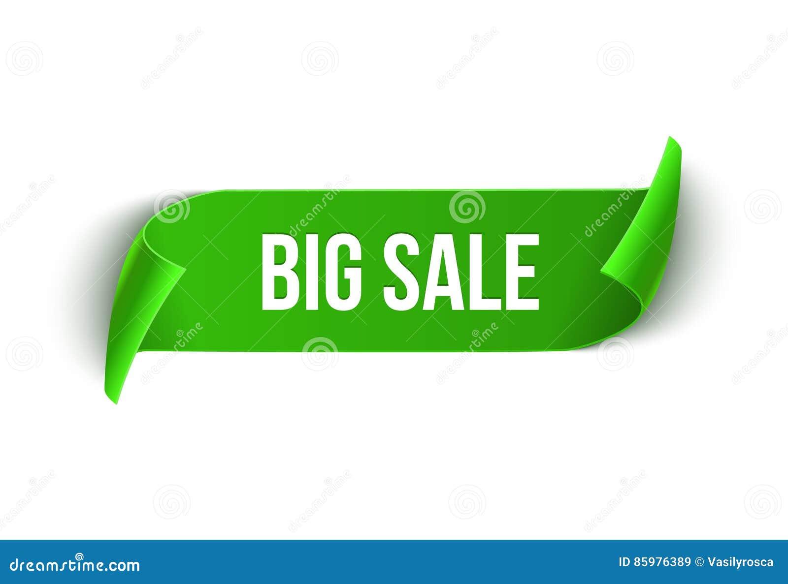 Big Sale Vector Ribbon Design Template Banner Sale Tag Market – Sale Tag Template