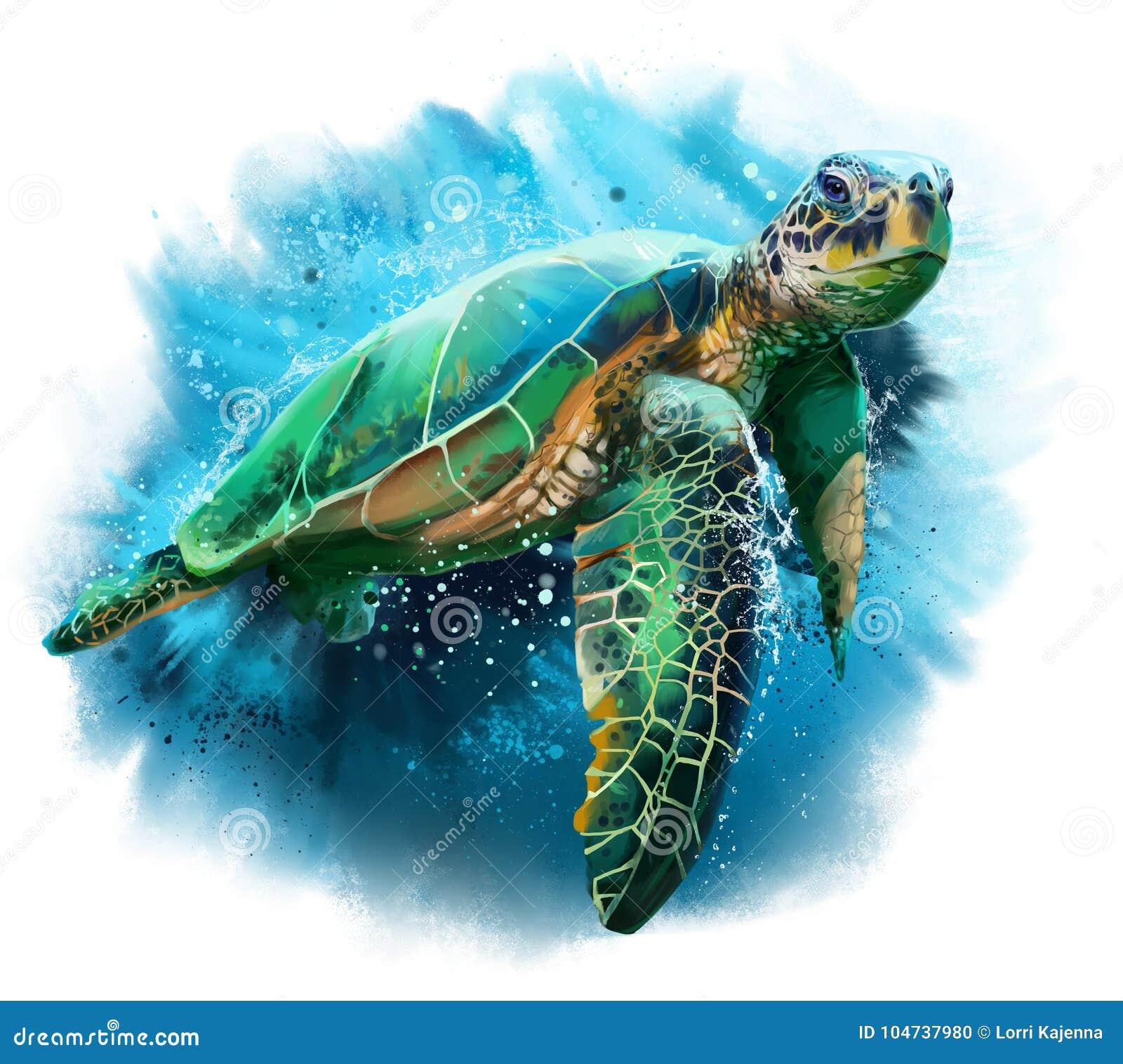 Big Sea Turtle Stock Illustration Illustration Of Nature 104737980