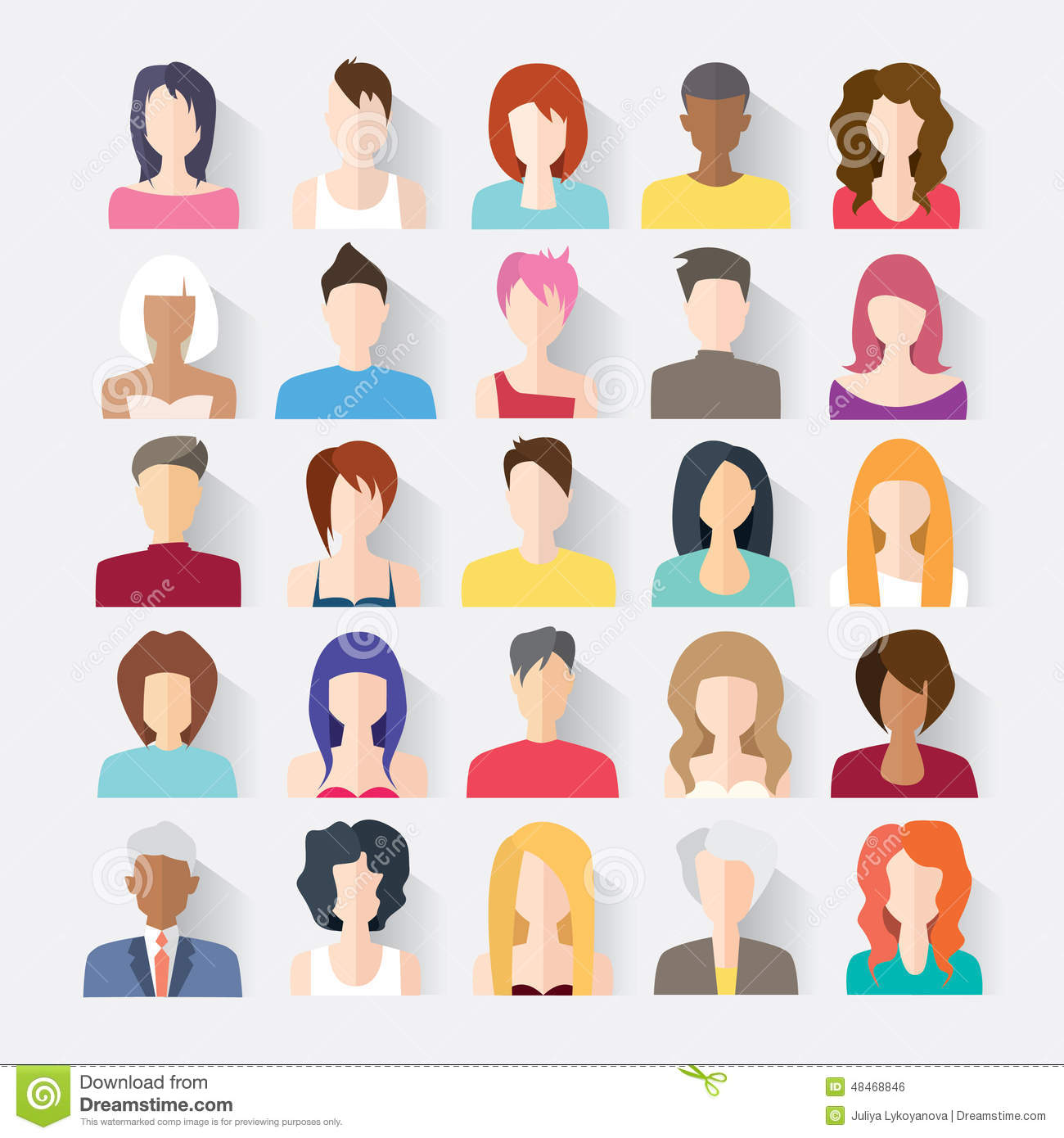 Book Icon Vector Male Student Or Teacher Person Profile: Big Set Of Avatars Profile Pictures Flat Icons Stock