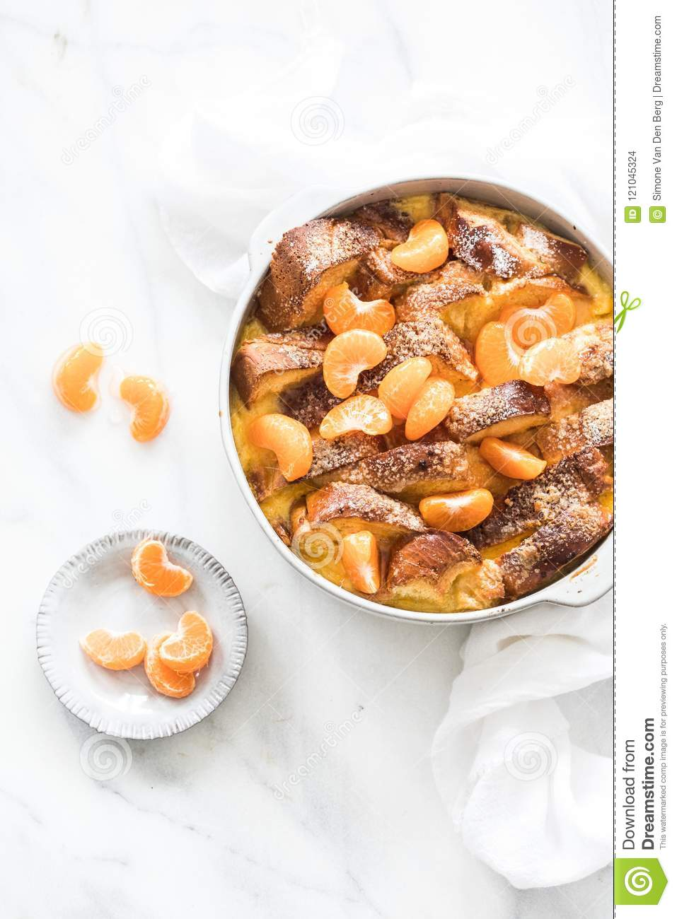 Bread Pudding With Mandarins Stock Photo Image Of Sweet Sweets