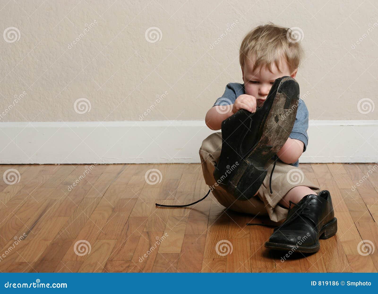 big shoes little feet stock photo image of toddler. Black Bedroom Furniture Sets. Home Design Ideas