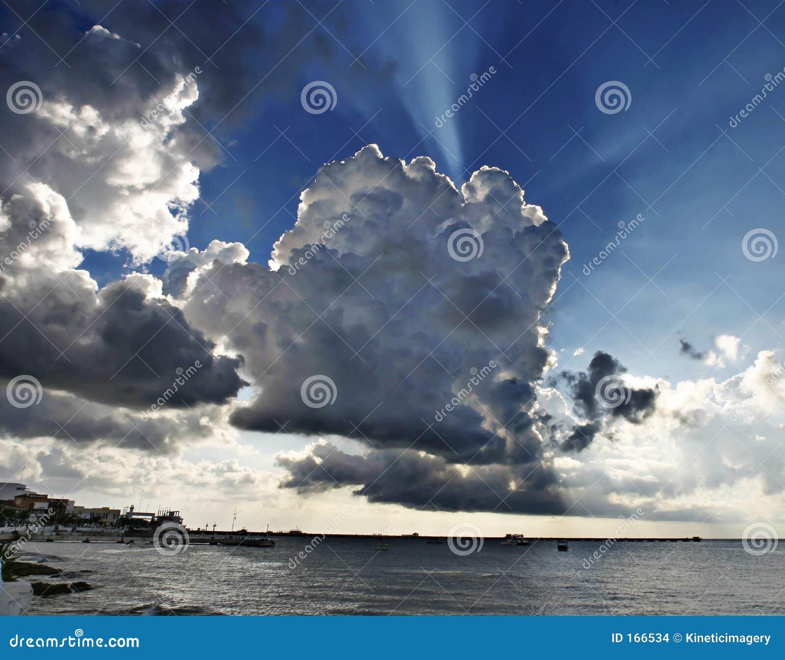 Big sky over Cozumel