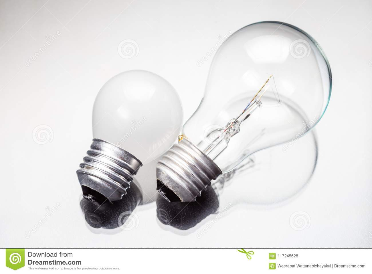 Download Big And Small Bulbs Stock Photo. Image Of Innovation   117245628