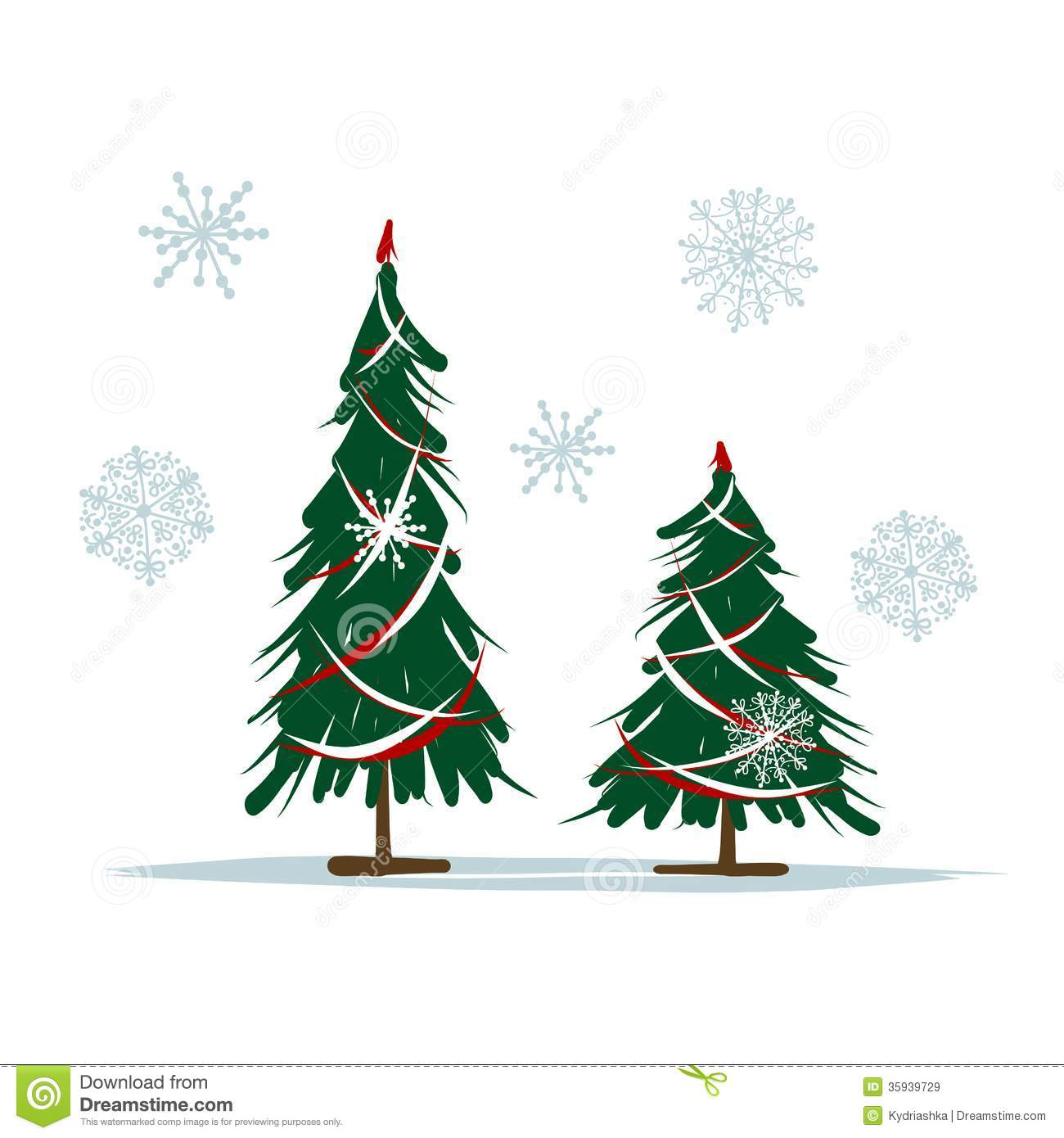 Big and small christmas trees for your design royalty free for Small designer christmas trees