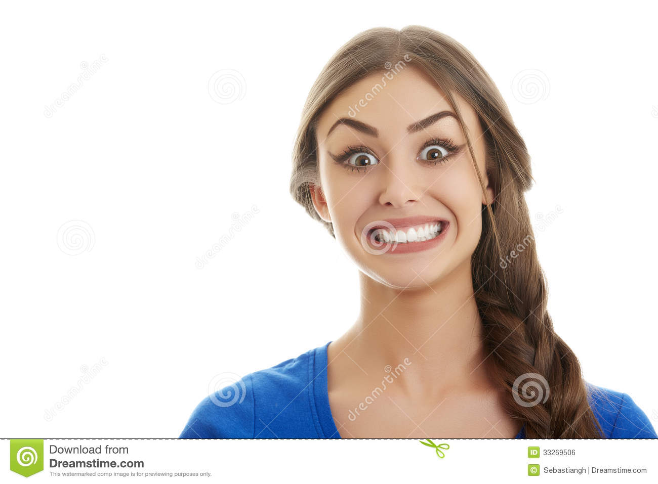 Big smile stock photo image of background face isolated for Big beautiful women picture