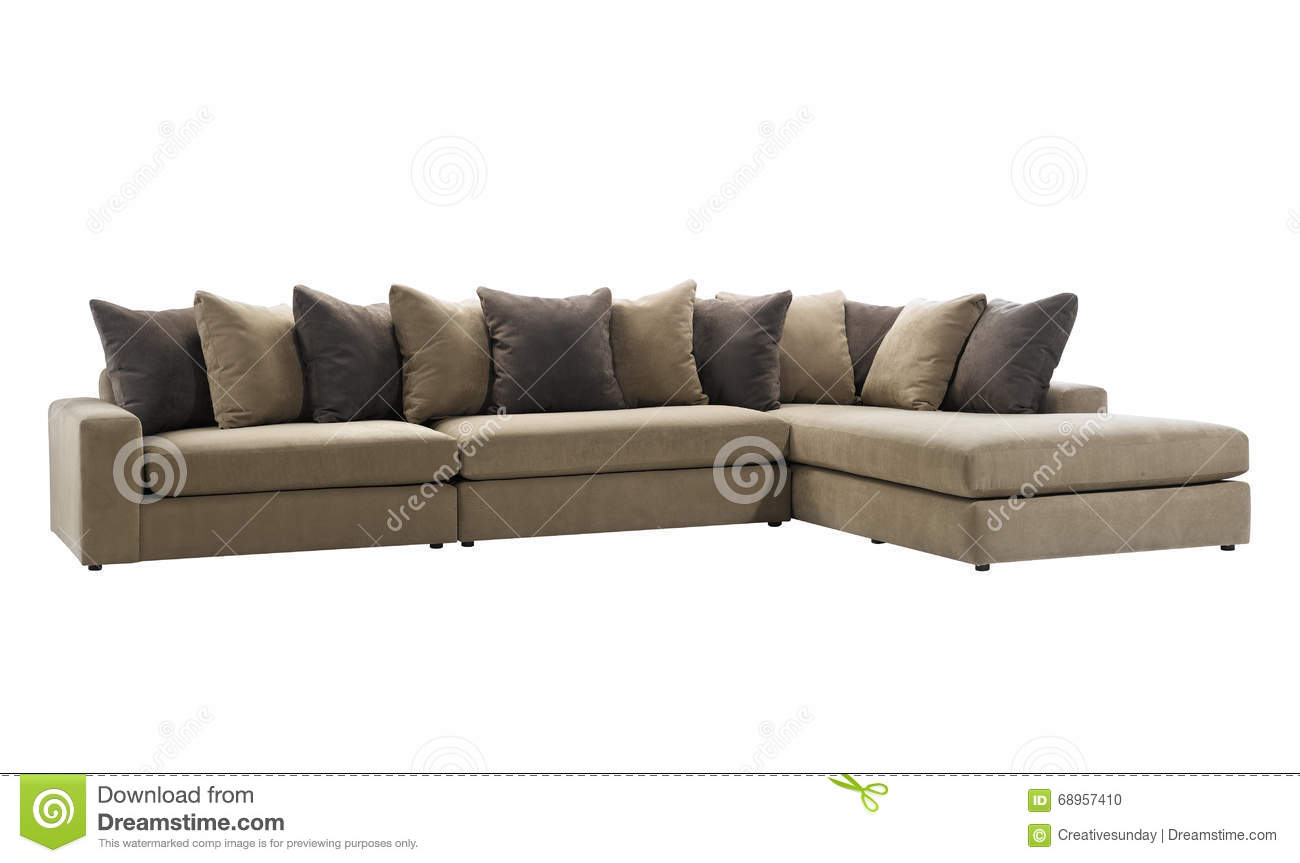 big sofa stock photo image of rectangular front comfort 68957410. Black Bedroom Furniture Sets. Home Design Ideas