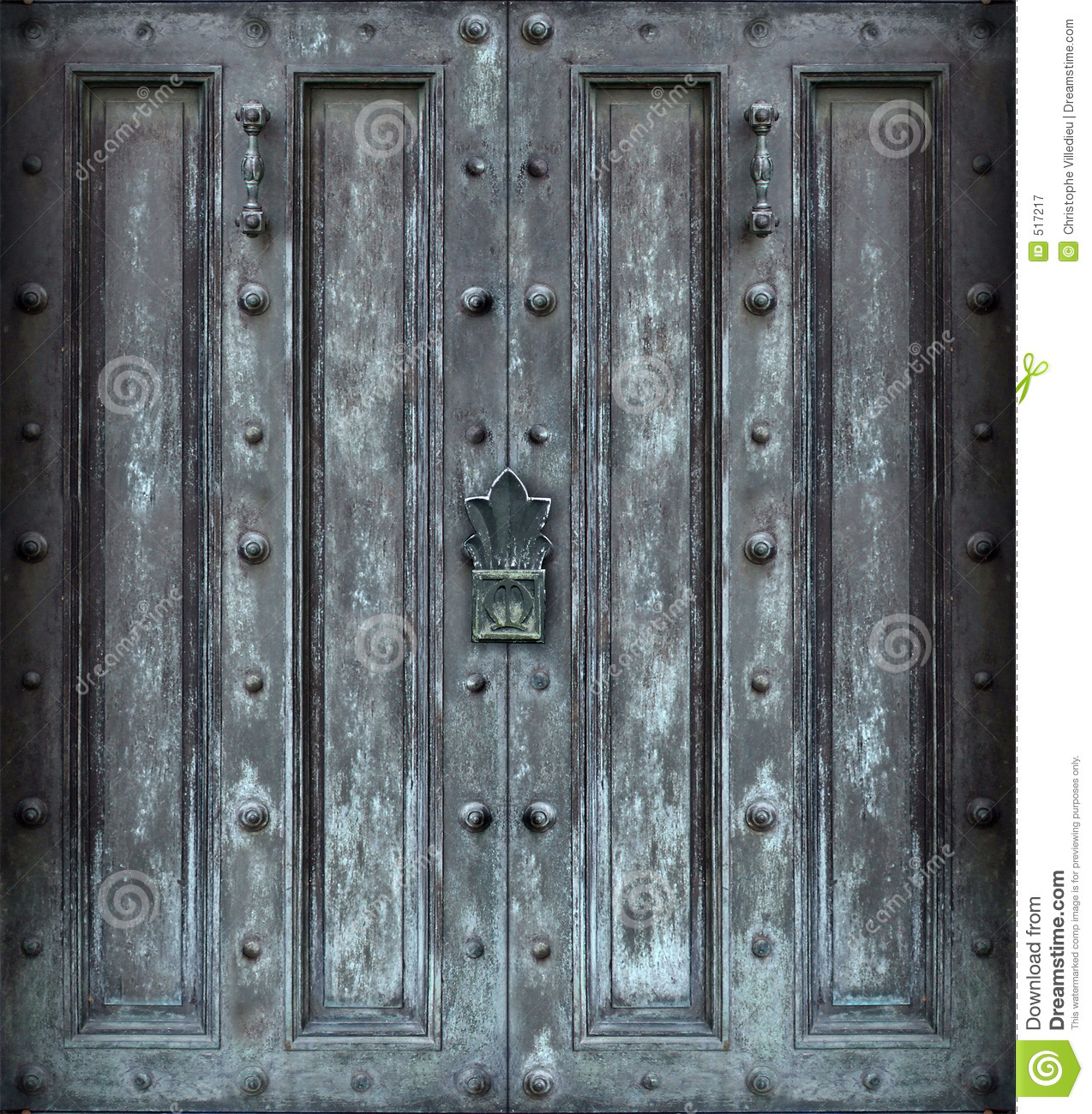 Big Solid Iron Door Royalty Free Stock Photography Image