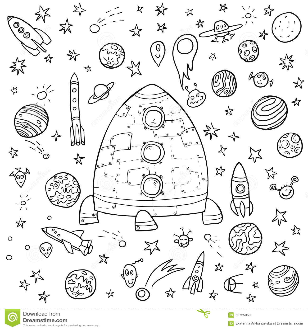 big space doodle set stock vector image of fantasy auto electricalbig space doodle set stock vector image of fantasy