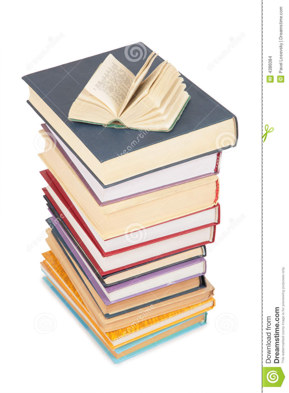 books stack opened
