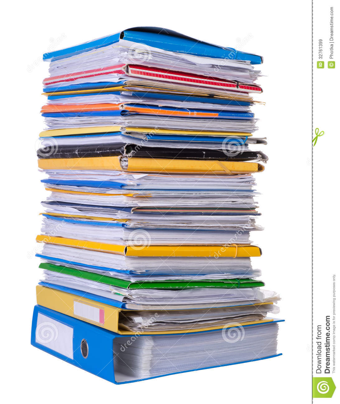 big stack of paper stock image. image of blank, white - 32761399