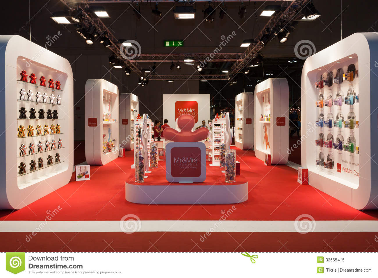 Big Exhibition Stand Design : A big stand at macef home show in milan editorial image
