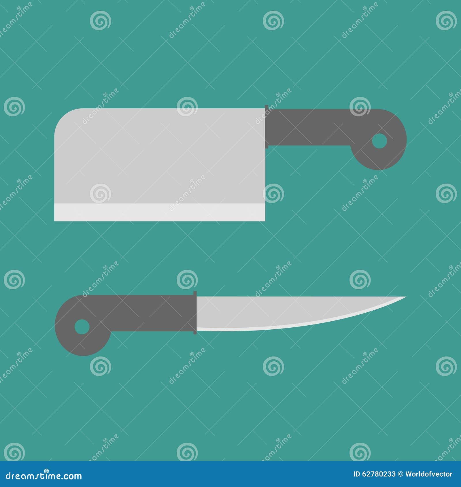 Kitchen Backsplash Design Tool Big Steel Kitchen Knife Set Flat Design Style Cartoon