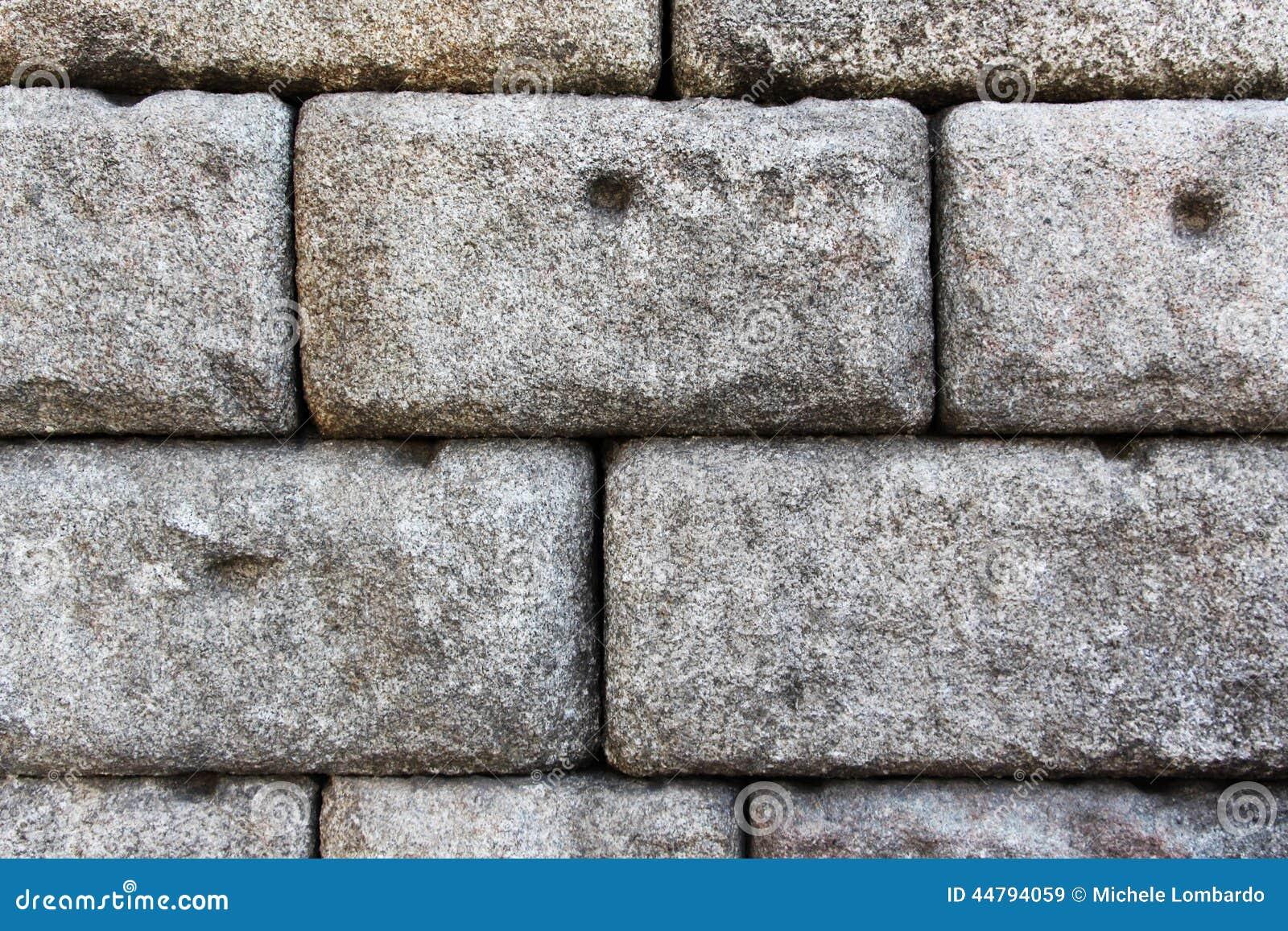 Large Stone Blocks : Big stone blocks stock image of pillars detail