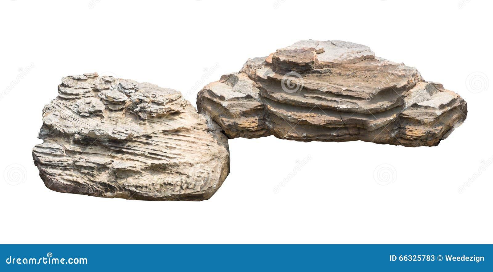 Large White Granite Rock : Big stone isolated on white background stock image