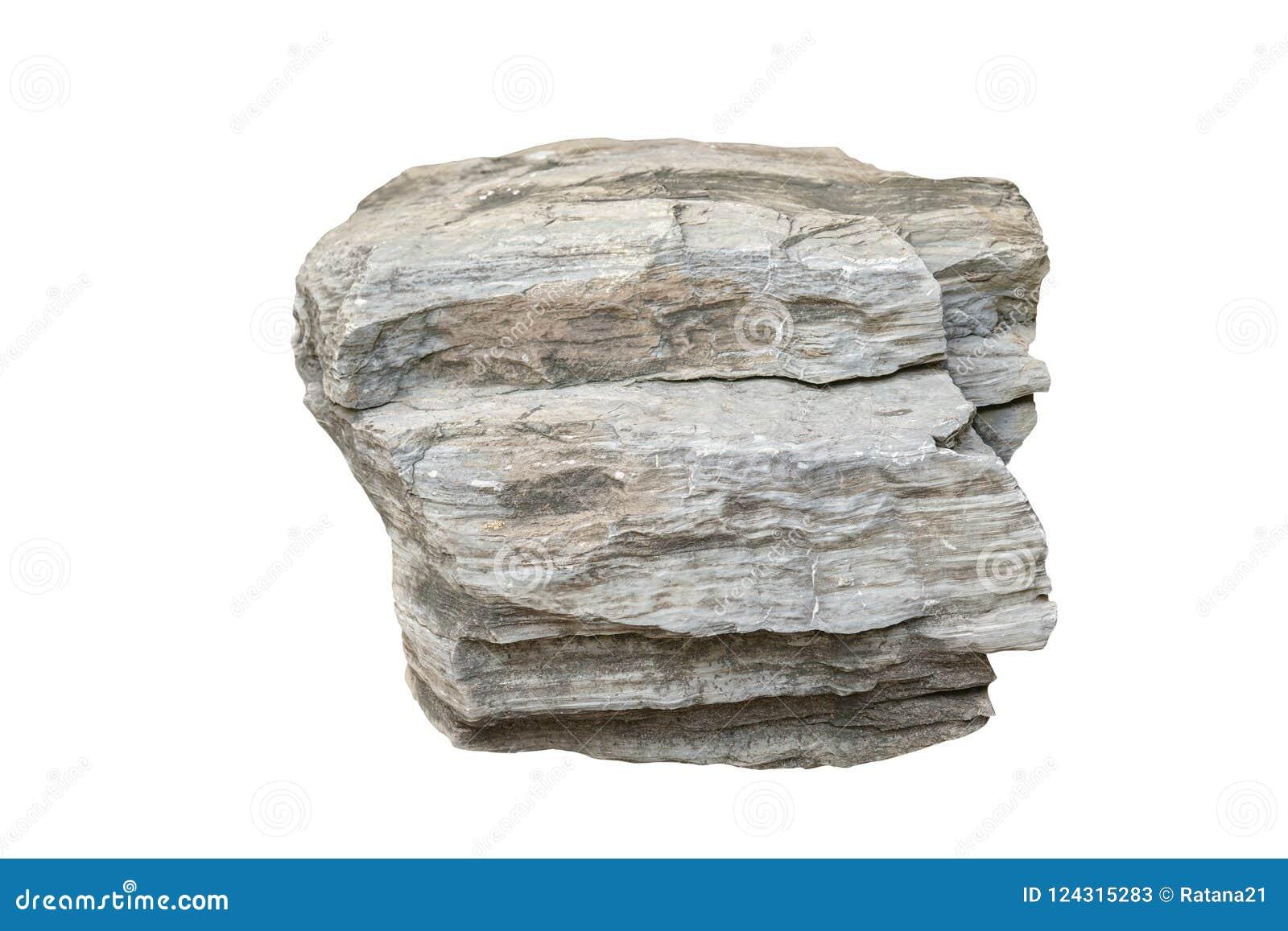 Big Stone Isolated On White Background Stock Image Image