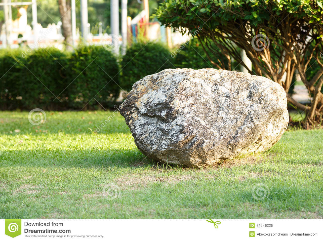 Big Stone And Rock In Garden And Park Royalty Free Stock