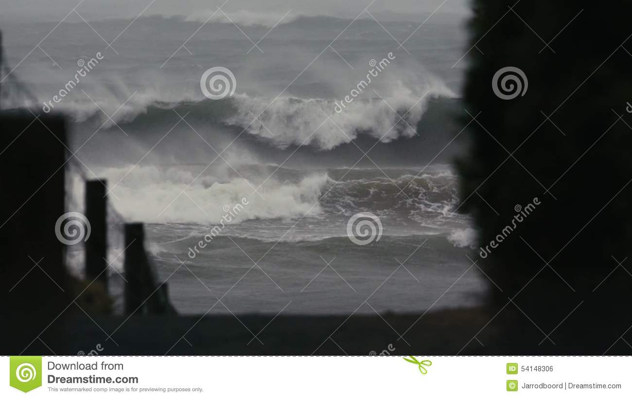 Really Big Storms Start Out Slow And >> Big Storm In Slow Motion Stock Footage Video Of Shore 54148306