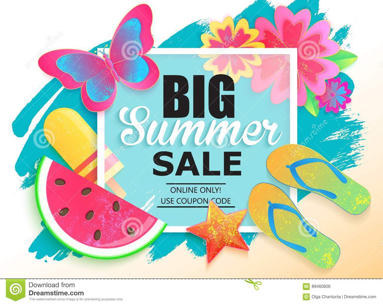 Big summer sale background for banner wallpaper stock for Designer wallpaper sale