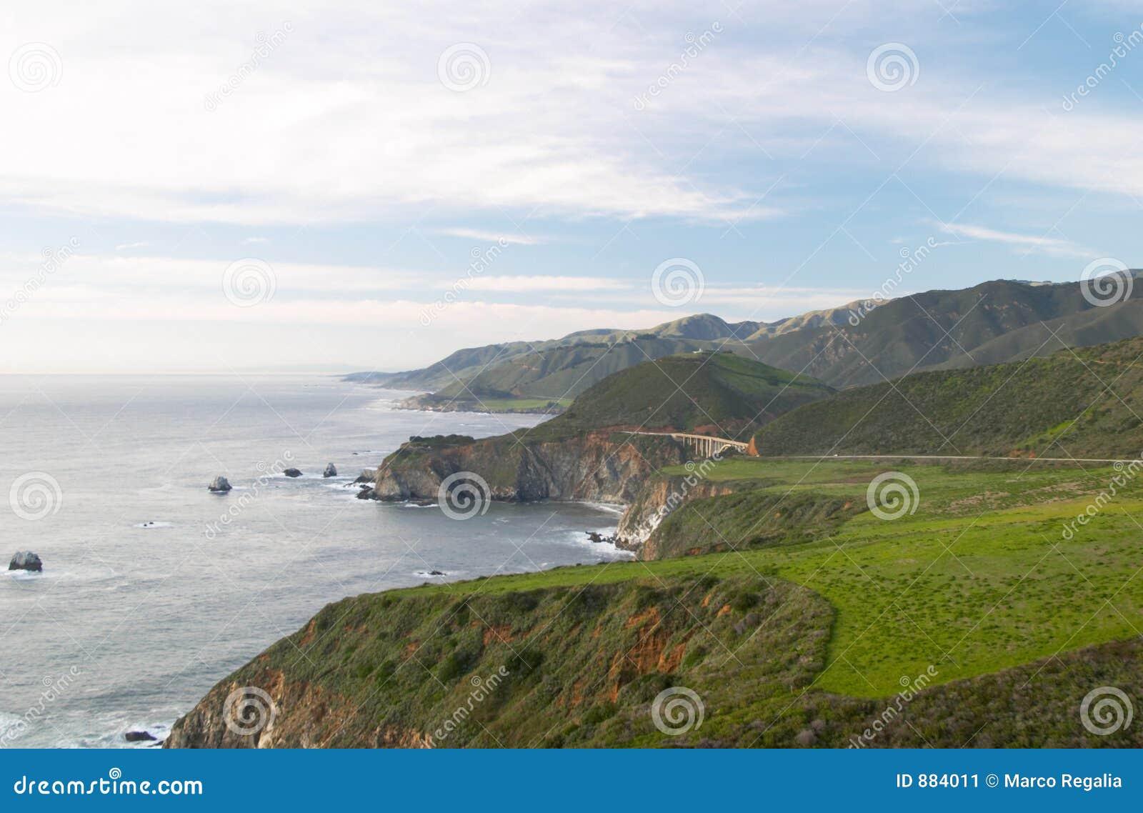 Big sur wybrzeże