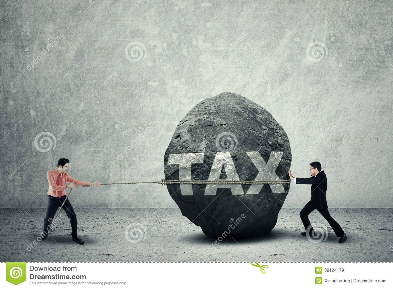 Young Sisyphus Tries To Move World >> Big Tax As Business Obstacle Stock Image Image Of Concept Outdoor